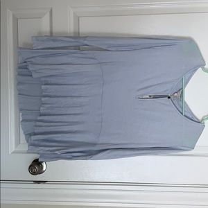 Lucky brand baby blue blouse